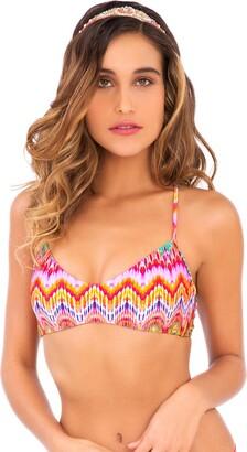Luli Fama Women's Sunkissed Laughter Criss-Cross Back Bra Bikini Top