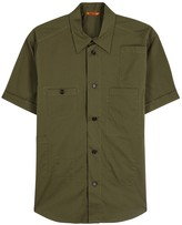 Barena Olive Cotton Blend Shirt