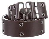 Christian Dior Grommet-Embellished Leather Belt