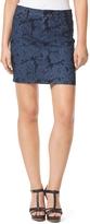 Tommy Hilfiger Final Sale-5 Pocket Faded Floral Printed Jean Skirt