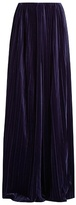 Marco De Vincenzo Wide-leg pleated-velvet trousers