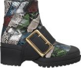 Burberry Buckle python boot