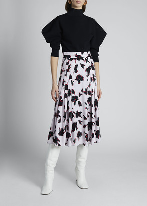 Proenza Schouler Floral Viscose Georgette Skirt