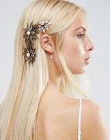 Asos Occasion Metal Flower Side Hair Clip