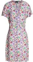 Just Cavalli Printed Crepe Mini Dress