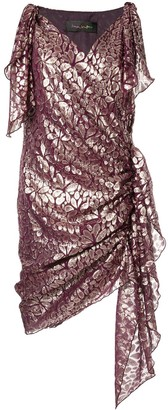 Romance Was Born Disco Paisley wrap dress