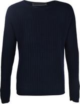 The Elder Statesman Plaited Rib Crew Sweater