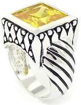 Alljoy Art'n Sparkle - Designer-Inspired Ring w/Golden CZ Size 10