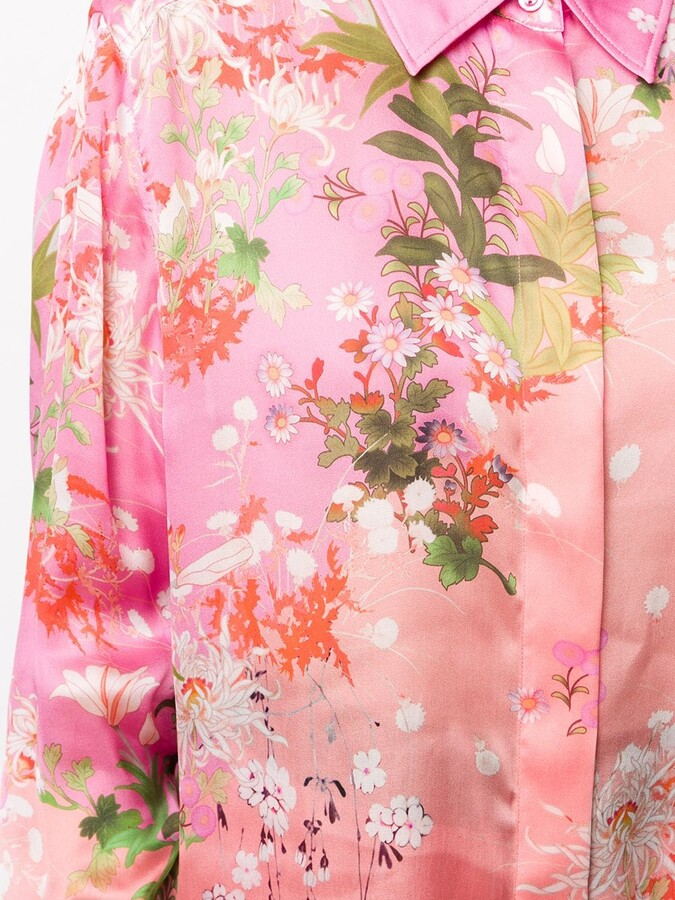 Thumbnail for your product : Givenchy Floral Print Long-Sleeved Shirt