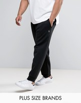 Polo Ralph Lauren Plus Cuffed Joggers Double Knit In Black