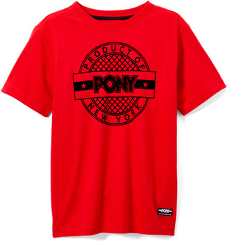 Pony Boys' Tee Shirts RACING - Racing Red Flocked Net 'PONY Product of New York' Tee - Boys