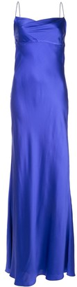 Mason by Michelle Mason cowl-neck bias gown