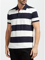 Gant Contrast Collar Barstripe Polo Shirt, Evening Blue