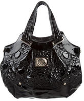Versace Quilted Medusa Patent Leather Tote