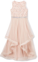 Speechless Champagne Lace-accent Maxi Dress - Girls