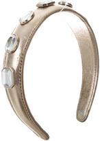 Dolce & Gabbana Leather Embellished Headband