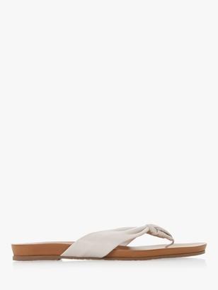 Dune Lyrikal Leather Knot Flat Sandals