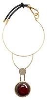Marni Two-circle resin necklace