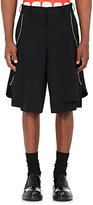 Comme des Garcons Men's Layered Worsted Wool Shorts