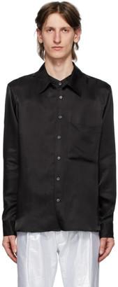 Ann Demeulemeester Black Viscose Moonrise Shirt