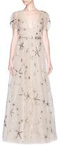 Valentino Sequin starfish silk organza gown