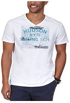 Nautica Men's Hudson Sailing School Graphic V-Neck T-Shirt