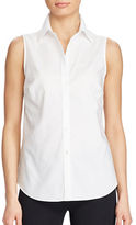 Lauren Ralph Lauren Petite Cotton Sleeveless Shirt