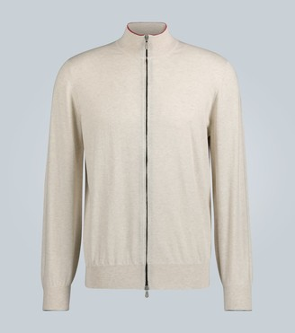 Brunello Cucinelli Zipped knitted cotton cardigan