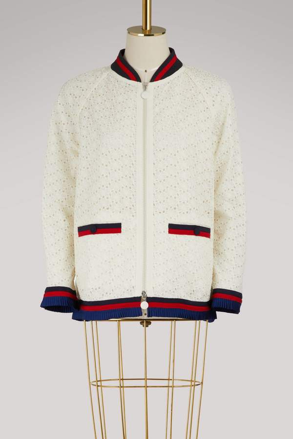 Moncler Lili embroidered bomber jacket