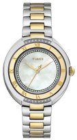 Timex Women's T2M596 Diamond Accented Two-Tone Stainless Steel Bracelet Watch