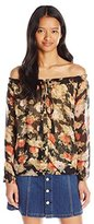 Miss Me Women's Floral Off The Shoulder Top