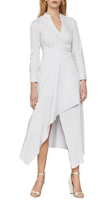 BCBGMAXAZRIA Day Long Stripe Wrap Dress