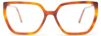 Marni Hexagonal Tortoiseshell Acetate Glasses - Womens - Tortoiseshell