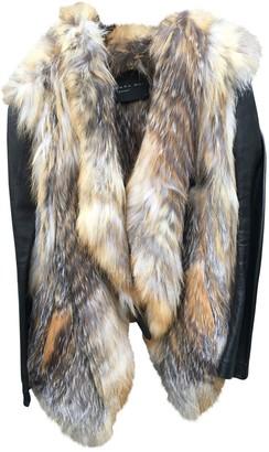 Barbara Bui Brown Fox Jacket for Women