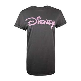 Disney Women's Logo T-Shirt, (Size:Small)