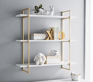 Pottery Barn Kids Gold Polished 3-Tier Shelf