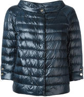 Herno three-quarters sleeve puffer jacket - women - Cotton/Feather Down/Polyamide/Polyimide - 44
