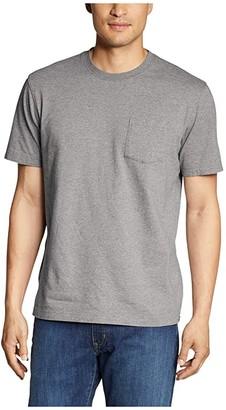 Eddie Bauer Legend Wash Short Sleeve Pocket Tee - Tall (Medium Heather Gray) Men's Clothing