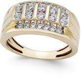 Macy's Men's Diamond Elevated Cluster Ring (1 ct. t.w.) in 10k Gold