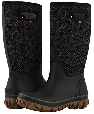 Bogs Whiteout Fleck (Black) Women's Rain Boots