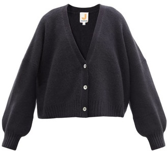 JoosTricot Balloon-sleeve Merino Wool-blend Cardigan - Black