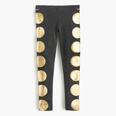J.Crew Girls' everyday leggings in foil dot