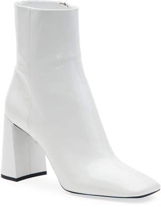 Prada Patent Leather Block-Heel Booties