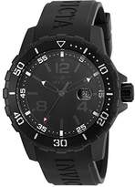 Invicta Men's Quartz Watch with Black Dial Chronograph Display and Black Silicone Strap 21459