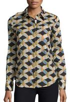 Milly Chain Printed Button-Down Shirt