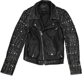 Maison Scotch Black Leather Jackets