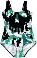 JOYHY Women's Digital 3d Print One Piece Backless Bathing Suit