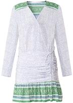 Veronica Beard Shiloh Ruched Flounce Dress
