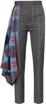 Charles Jeffrey Loverboy draped tartan tailored trousers