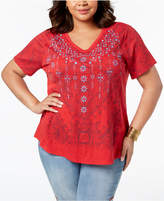 Style&Co. Style & Co Plus Size Graphic Top, Created for Macy's